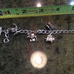 Jewelry - Vintage Sterling Silver Charm Bracelet & 8 Charms